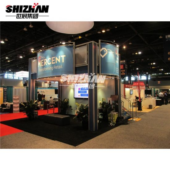 Portable Aluminium Professional Outdoor or Indoor Large Lighting Truss Trade Show Booth with Large Banner and Show Area Display