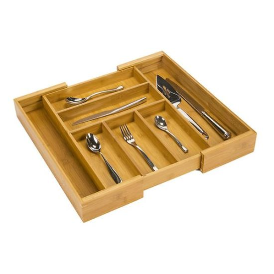 China Multi Function Expandable Bamboo Kitchen Cutlery Drawer