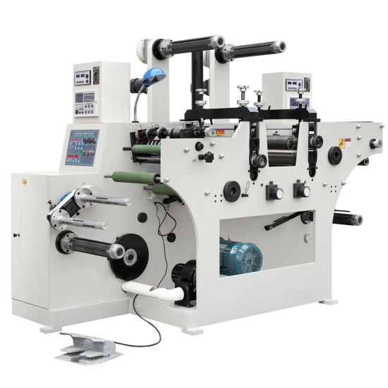 Low Cost High Accuracy and Reliable Automatic Roll to Roll Adhesive Label Sticker Die Cutter Slitter Machine