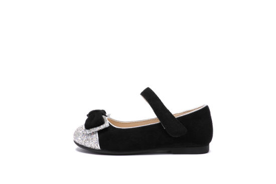 Custom Girls Mary Jane Summer Children Dress Shoes Flat Glitter Sparkle Shoes