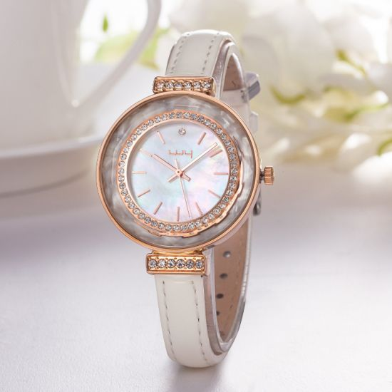 Luxury Your Own Brand Gold Plated Womens Diamond Watch Wy-101