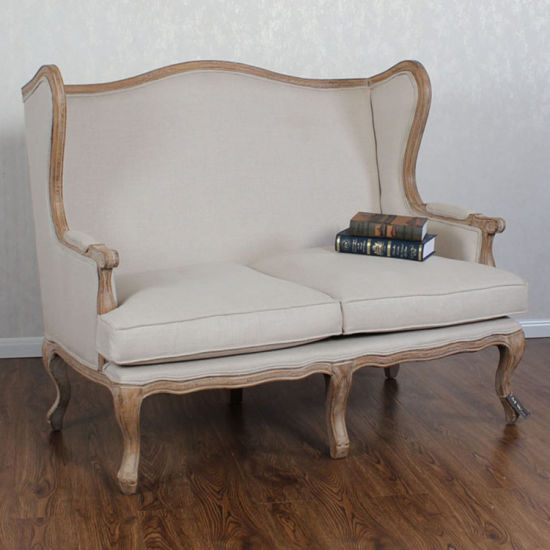 French Living Room Furniture High Wing Back Sofa