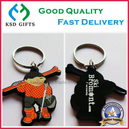 Custom Soft PVC Key Ring No MOQ at Factory Wholesale Price pictures & photos