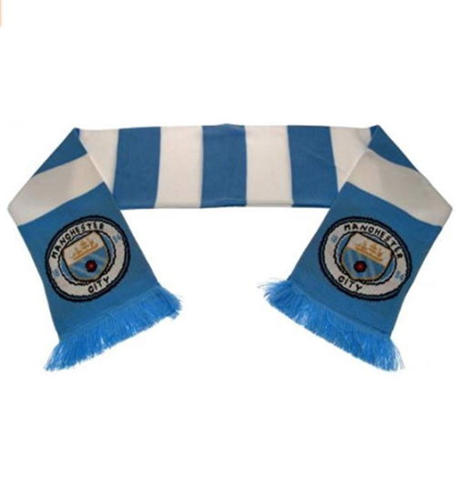 Customized Design Sport Fan Acrylic Knitted Jacquard Soccer Football Scarf