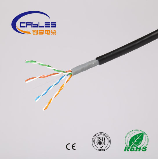 Cat5e SFTP Water Proof Outdoor Ethernet Cable/Double Jacket and Double Shielded pictures & photos