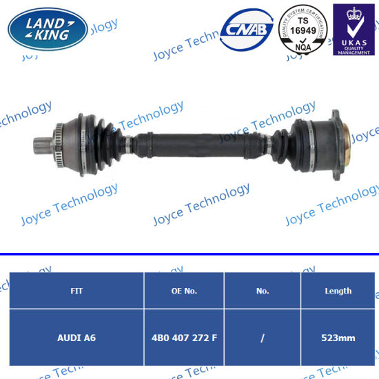 Factory CV Axle Drive Shaft OE: 4b0407272f for Audi A6 Avant (4B5, C5) (4B2, C5)