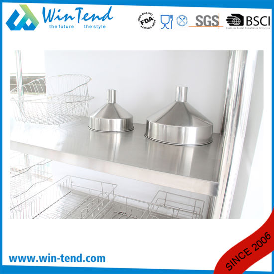 Stainless Steel Robust Construction Heavy Duty Shelf Board Type Kitchen Vegetable 4 Tier Storage Rack pictures & photos