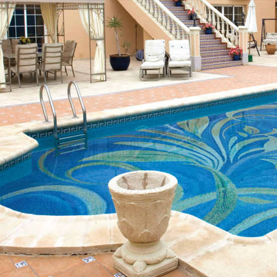 Blue Cheap Mosaic Swimming Pool pictures & photos