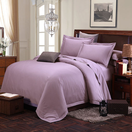 Wholesale Silk Soft 100% Cotton Dobby Bed Sheet pictures & photos