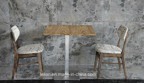 Hot Sale Solid Wood Dining Table and Chair Set for Home Use (LL-BC0087) pictures & photos