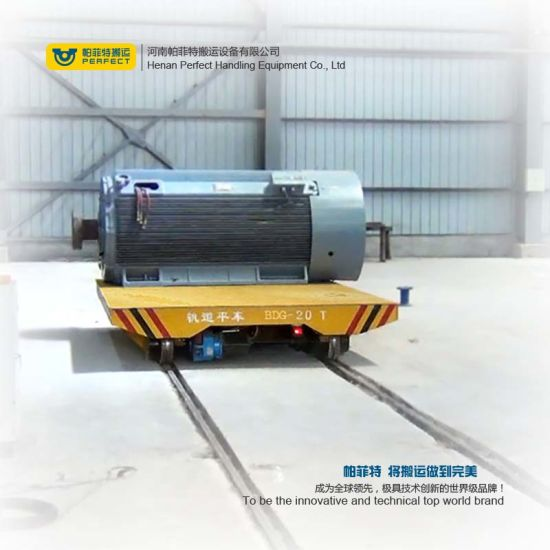 Battery Driven Rail Flat Transport Car pictures & photos