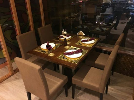High End Wooden Dining Table Chairs For SA Market FOH SAR2