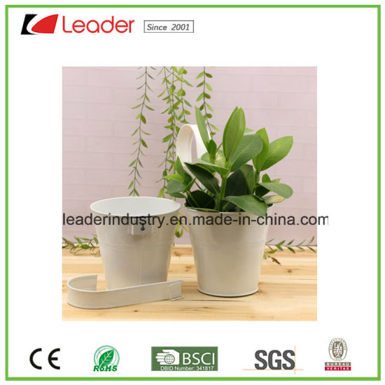 Metal Flowerpot with Hanger for Home and Garden Decoration pictures & photos