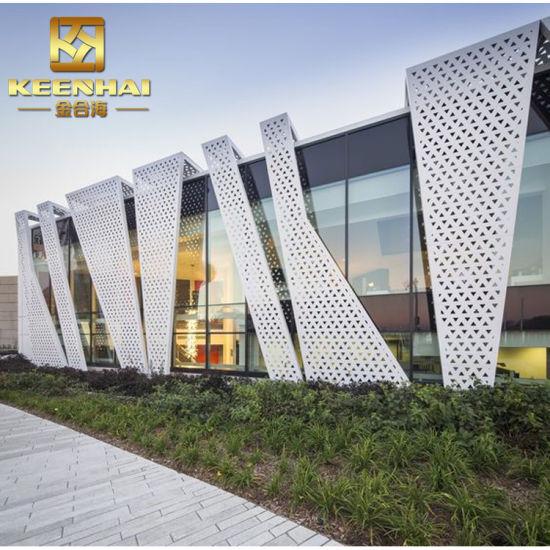 Decorative Exterior Building Material Wall Panel Aluminum Facade (KH-CW-72)