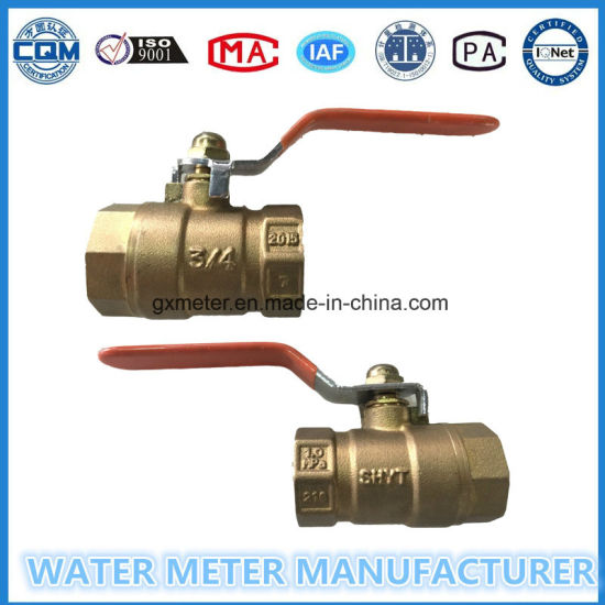 Brass Ball and Gate Valve for Water Meter Fitting pictures & photos