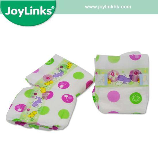 Factory Price PE Film+PP (Magic) Tape Baby Diaper/Cotton Diaper