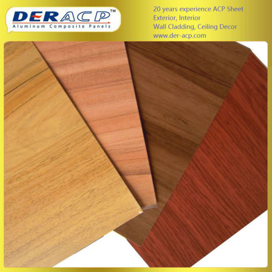 5mm/0.3mm Wooden Aluminum Composite Panel with PE Core Sheet
