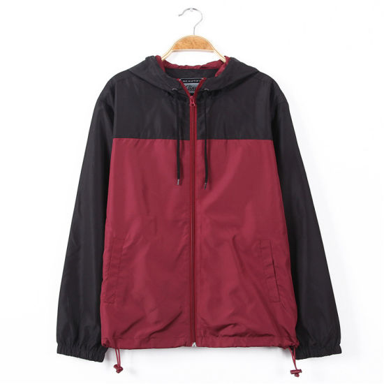 Wholesale Custom Quality Men's Hooded Windbreaker Jacket Coat