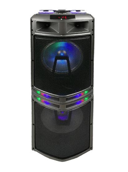 Double 12 Inch Wooden Portable Professional DJ Karaoke Audio Sound Box Bluetooth Speaker