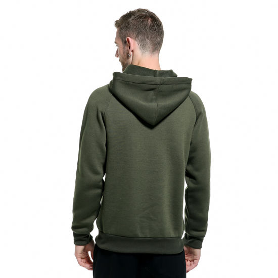 2019 Men Spring Long Sleeve Plain Hoodie Warm Coat Jackets Fashion Hoody Top USA
