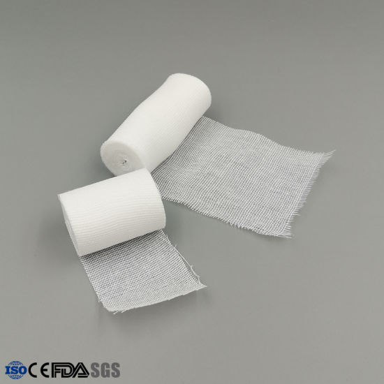 Medical 100% Cotton Absorbent Gauze Bandage for Hospital Surgical with Ce Approval