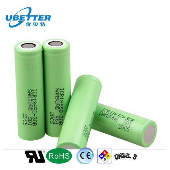 3.7V 2200mAh Samsung Li-ion Battery 18650 Icr18650-22f