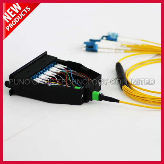 Fiber Optic Assembly 12F MPO To LC Breakout Cable 40 Gig With Cassette pictures & photos