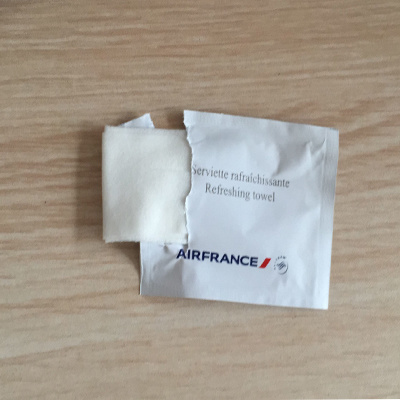 Non-Woven Material and Single Airplane Wet Wipes Type Single Airplace Wet Tissue pictures & photos