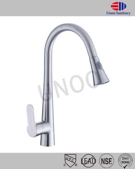 304 Stainless Steel Pull out Dual Function Kitchen Faucet pictures & photos