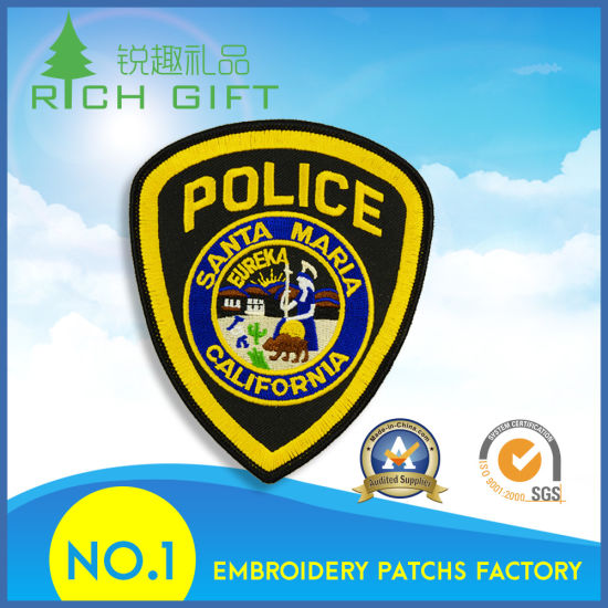 No Minimum Order Promotional Embroidery Patch Badges for Police