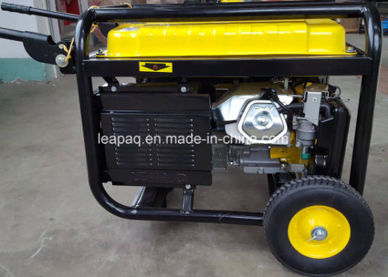 5.0 Kw Wheels & handle Portable Gasoline Generator pictures & photos