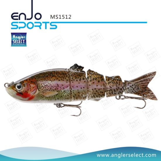 Multi Jointed Fishing Life-Like Lure Bass Bait Swimbait Shallow Plastic Fishing Lures (MS1512) pictures & photos