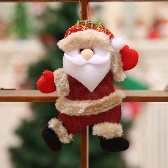 1x Christmas Santa Claus Snowman Ornaments Gift Tree Toy Doll Hang Home Decorate