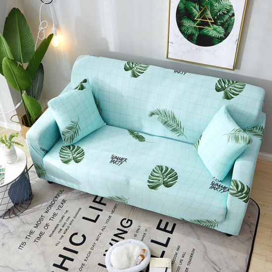 High Quality Polyester Modern Furniture Protect Printed Color Elastic Stretch L Shape Sofa Cover Design