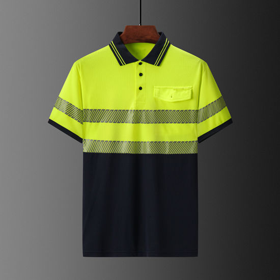 Polo Shirt Workwear Hivis Safety Segment Reflective Tapes