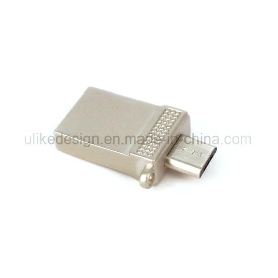 Instant Data Transfer Mobile Mini USB Pen Drive Metal Material OTG USB Flash Drive Personal Logo Print USB Stick