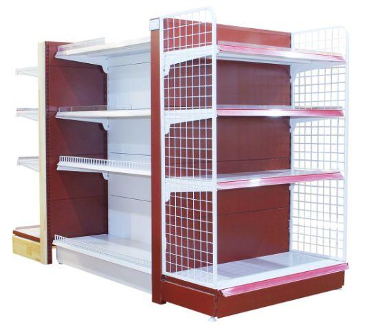 Metallic and Glass Supermarket Lotion Display Shelving