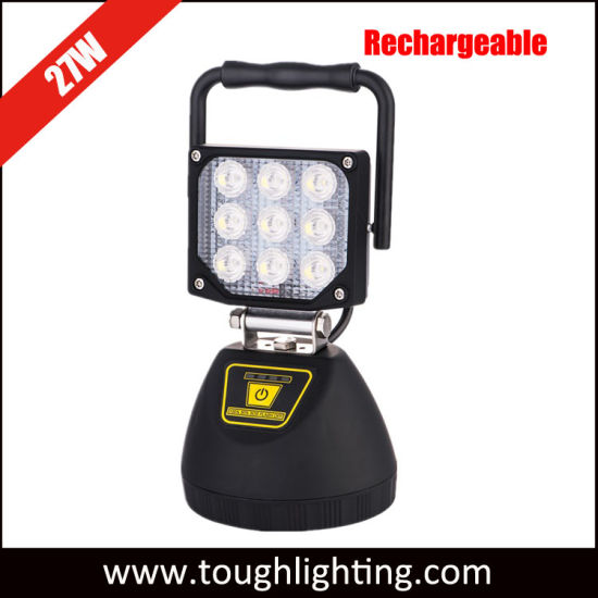 Ce Approved Portable Rechargeable 27W LED Magnetic Shop Light
