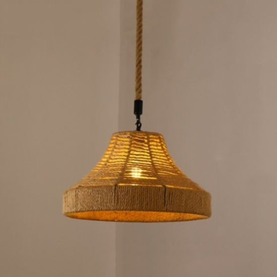 Pendant with Hemp Rope for Home Lighting Decoration