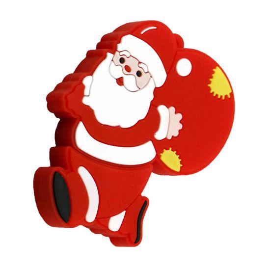 OEM/ODM USB Stick Santa Gift Customized Cartoon PVC USB Pen Drive/USB Drives/USB Flash Drive 1GB 2GB 4GB 8GB 16GB 32GB for Christmas Gift