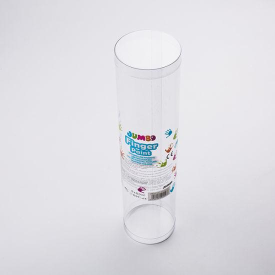 High Quality Custom Logo Printing Clear Plastic Cylinder Box