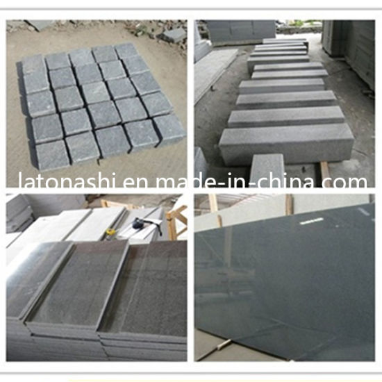 Natural G654 Cobblestone, Polished Dark Grey Granite Driveway Paving Stone pictures & photos