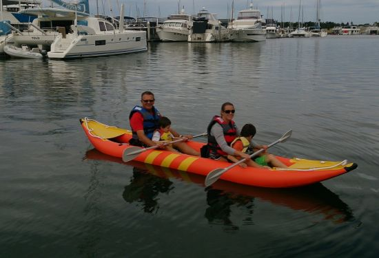 Double Seat Inflatable Kayak Fishing Boat