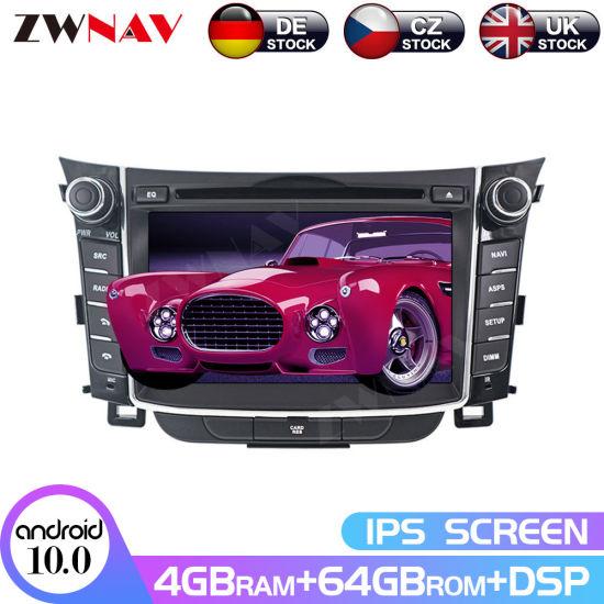 Android 10.0 Car DVD Player for Hyundai I30 Elantra Gt 2012+ GPS Navigation Multimedia Player Radio Auto Tape Recorder Head Unit