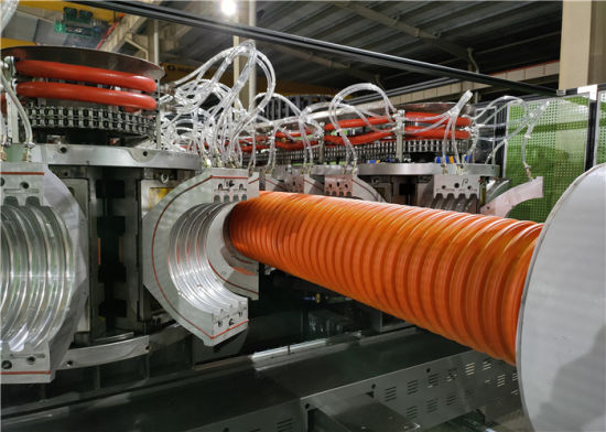 Jwell Horizontal Water Cooling Double Wall Corrugated Pipe Extrusion Machine