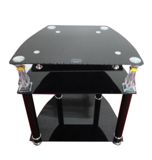 Modern Black Tempered Glass TV Stand/TV Cabinet