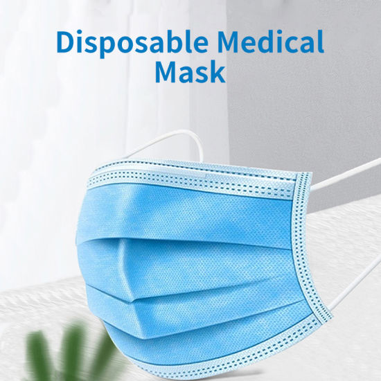 Ce Marked Non Woven 3 Ply Disposable Medical Type I Protective Face Mask Musk Mascarillas Facemask Factory Wholesale Price