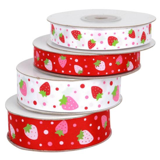 Wholesale Cute Strawberry Grosgrain Ribbon