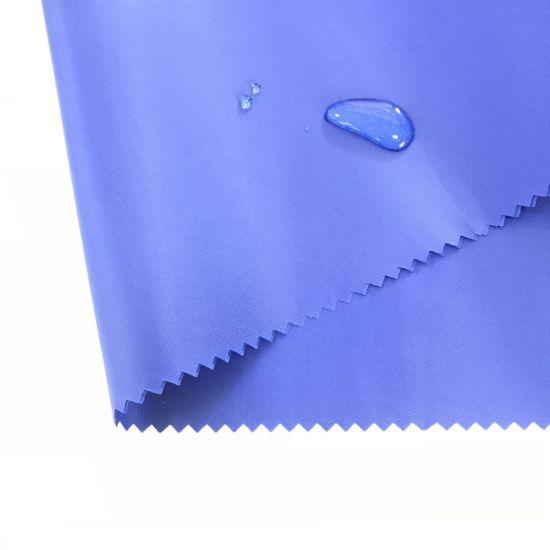 Factory Price Fabric Black PU Coating Polyester Taffeta