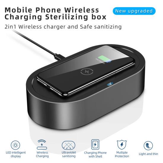 UV Disinfection UV Sanitizer Mobile Phone Wireless Charging Sterilizing Box